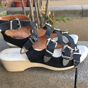 Free People Jeffrey Campbell buckle sandals